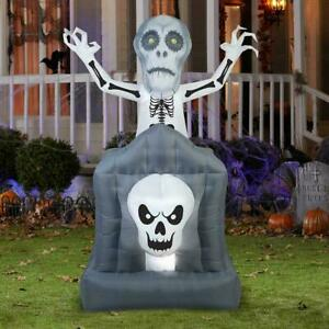 GEMMY Airblown Inflatable Animated Pop-Up Ghost in Haunted TOMBSTONE. NEW.