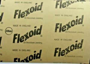 GASKET PAPER MATERIAL - FLEXOID - OIL & WATER RESISTANT - 0.8mm  x 2 A4 Sheet pa