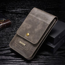 """Universal 6.5"""" Leather Case Card Pouch Bag Belt Clip Ring Holster For Cell Phone"""