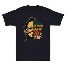 Michael Myers Social Distancing In Public Since 1978 Vintage Adult Men's T-Shirt