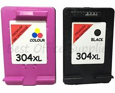 Remanufactured 304 XL Black & Colour Ink Cartridge Combo fit HP Deskjet 2632