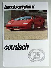 Prospetto LAMBORGHINI COUNTACH 25 Anniversary, 1989, 4 pagine, INGLESE UK