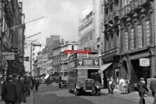 PHOTO  LONDON 1955 NORTHWARD UP OLD BOND ST NEAR PICCADILLY