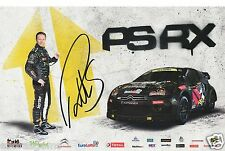 Petter Solberg World Rally Cross Hand Signed Promo Card A
