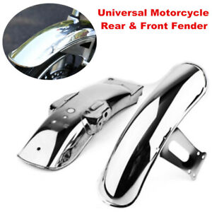Universal Motorcycle Rear & Front Fender MudGuard Cover Fit for CG125 Retro Bike