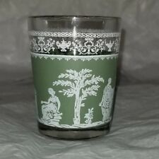 Vintage Jeanette Glass Company Green Wedgewood Shot Glass