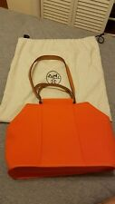 HERMES Authentic Orange Canvas Cabag Elan PM Tote Bag 95% new