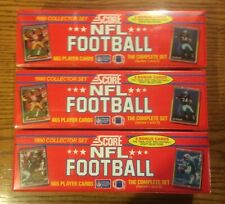 (3) 1990 Score Football Complete Sealed Factory Sets - 665 Cards