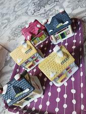 5x Häuser Eisenbahn Traktor Spielplatte Dekoration Ton Keramik Bauen