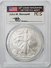 2008 W Reverse 2007 Burnished Silver Eagle PCGS SP70 First Strike Mercanti