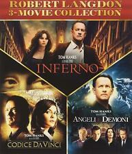 Inferno & Da Vinci Code & Illuminati - 3-Blu-Ray-Set -Tom Hanks-  deutscher Ton