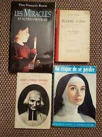 Lot de livres sur la religion chrétienne