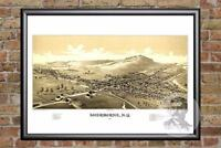 Vintage Sherburne, NY Map 1887 - Historic New York Art Old Victorian Industrial