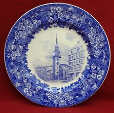 """Wedgwood china Rowland & Marsellus Dinner Plate - Old South Church - 10-1/2"""""""