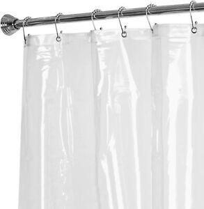 Maytex 10 Gauge Super Heavyweight Clear Shower Liner PVC Rustproof Grommets NIP
