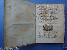 ANNALI D'ITALIA_MURATORI_ANTICA STORIA LOCALE_EDIZIONE NAPOLETANA DEL '700