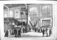 Old Antique Print 1867 Paris Procession Machinery Useful Arts Department 19th