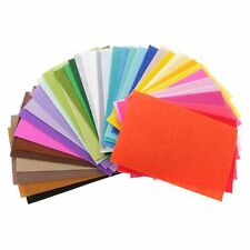 40pcs 1.5 Mm Nonwoven Fabric Craft Polyester Felt Bundle Sheets for Sewing Doll