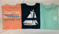 "New, Lot of 2, Southern Tide Men's Long Sleeve ""Sail Away"" T-Shirts, L"