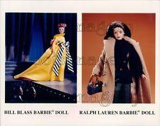 1997 Bill Blass & Ralph Lauren Barbie Doll Press Photo