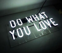 """DO WHAT YOU LOVE"" Beer Bar Club Neon Sign Light Party Artwork Vintage Party"