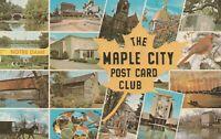 A)  Elkhart, IN - Maple City Post Card Club - 16 Postcard Views - Logo
