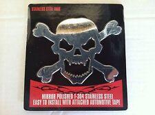 Head Skull Cross/Bones Pirate Emblem 3-D Stick On Decal Chevy,Ford,Dodge,Toyota