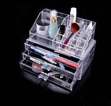 3 Storage Clear Make up Box Organiser Cosmetic Display Case Set Xmas Gift Girls