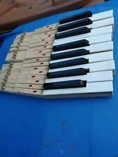 REPLACEMENT PIANO PARTS VINTAGE KEYS JOB LOT 16 OFF £12 ENGLISH ZENDER DEL £ 6