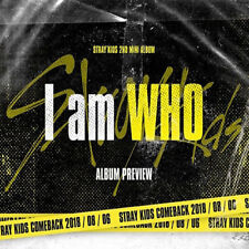 STRAY KIDS [I AM WHO] 2nd Mini Album RANDOM CD+FotoBuch+3p Karte+Lyrics SEALED