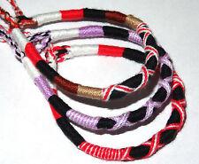 Lot de 3 Bracelet brésilien Amitié coton Friendship Porte Bonheur noir rouge