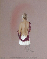 "Kay boyce ""lucy"" nude woman robe signé! taille: 36cm x 29cm out-of-print le rare"