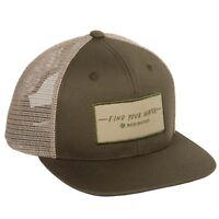 Redington Fishing Find Your Water Script Mesh Trucker Hat in Olive Snapback OSFA