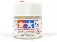 Tamiya Color X-2 White 1/3 Oz. 10ml Bottle Acrylic Hobby Model Paint