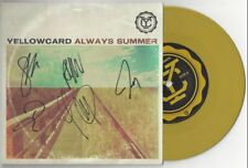 "Yellowcard ""Always Summer"" 7"" AutographTaking Back Sunday Blink 182 All Time Low"