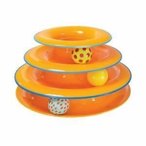 Petstages Tower of Tracks Interactive Play Circle Track Moving Ball Chasing