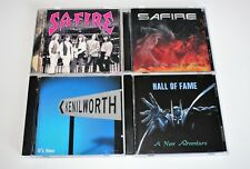 AOR MELODIC HARD ROCK CDs SAFIRE + ALL BECAUSE OF YOU +KENILWORTH +HALL OF FAME