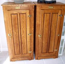 New listing Vtg Oak Wood Cabinet Repro Ice Box Storage Pantry Laundry Linen Closet