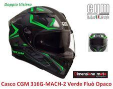 Casco Integrale Doppia Visiera CGM 316G-MACH2 Verde Fluò Opaco Taglia M 57/58 cm