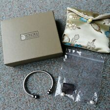 with Black & White Stud Earings Honora ~ Interchangeable Stainless Steel Bangle