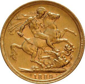 Australian Mint Full Sovereign Queen Victoria Jubilee Head, 1889 Sealed