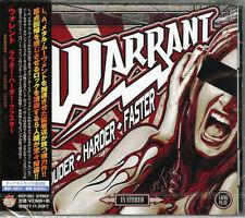 WARRANT-LOUDER-HARDER-FASTER-JAPAN CD BONUS TRACK F83
