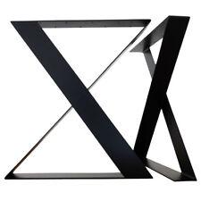 Black Flat steel Bar stool table Legs X shape, 700mm wide 1020mm tall