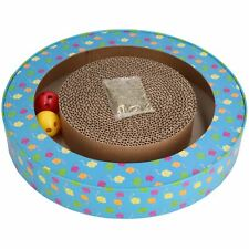 Orbit Cardboard Scratch Pad Cat Scratcher Interactive Toy With Catnip5.5x33cm