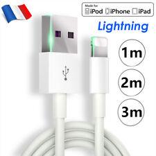 Câble CHARGEUR APPLE iPhone CABLE USB 1M/2M/3M iPhone SE/11/Pro/X/XR/8/7/6s/5