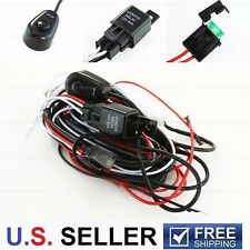 Set of Led Work HID FOG Light Off road Wiring Loom Harness Kit Fuse+Switch+Relay