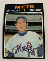 1971 Gil Hodges # 183 New York Mets Topps Baseball Card NY