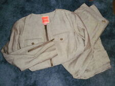 Women's ISAAC MIZRAHI Target Linen Cotton 2 Piece Set Zip Lined Top S & Capris 8