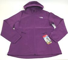 New THE NORTH FACE Nimble HOODIE Jacket WOMEN Fuchsia WOOD Violet FULL Zip Sz L