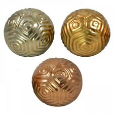 1pce 10cm Metallic Ceramic Deco Ball with Beauiful Modern Circle Inspired Design